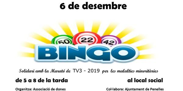 Bingo solidàri amb la Marató de TV3