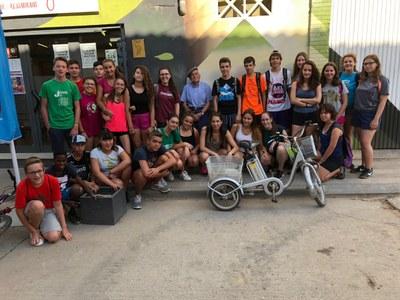 Els joves del camp de treball de Penelles restauren les sitges i el camí del calvari