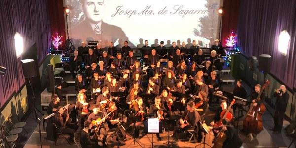 Escenari del concert El Poema de Nadal, al cinema Kursaal.