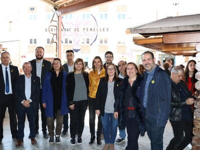 Inauguren les reformes de la carretera que uneix Penelles, Bellmunt d'Urgell i Castellserà