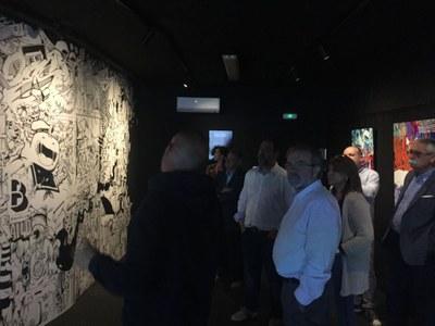 Penelles inaugura la 'Sala B' amb una exposició interactiva de l'artista internacional Zeso WF