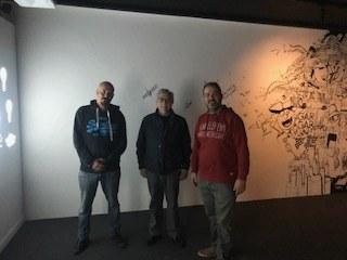 Visita de la SalaB per part del director dels ST de Cultura de Lleida el Sr. Josep Borrell